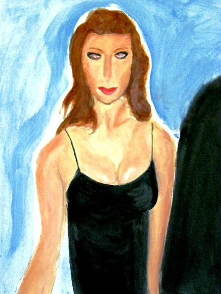 Painting - Angelina Jolie In The Movie Assassins Creed  by Stanley Morganstein