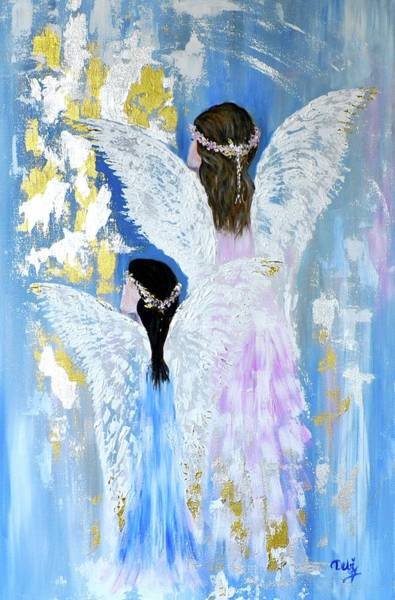 Wall Art - Painting - Angels 2 by Debi Starr