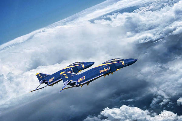 Usn Digital Art - Angels Above by Peter Chilelli