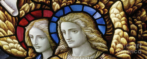 Wall Art - Glass Art - Angels At The Sepulchre by Carl Almquist