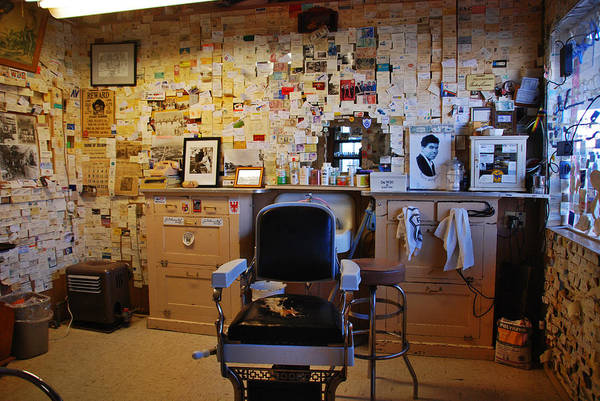 Photograph - Angel's Barber Shop On Route 66 by Susanne Van Hulst
