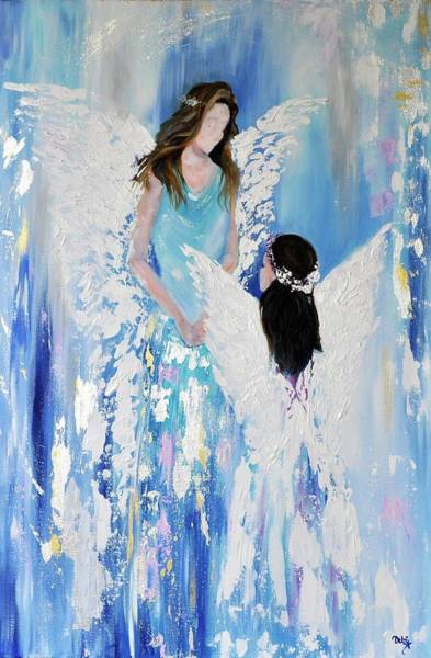 Wall Art - Painting - Angels by Debi Starr
