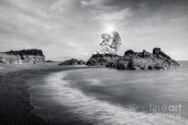 Angelic Digital Art - Angels Guidance by Ian Mitchell