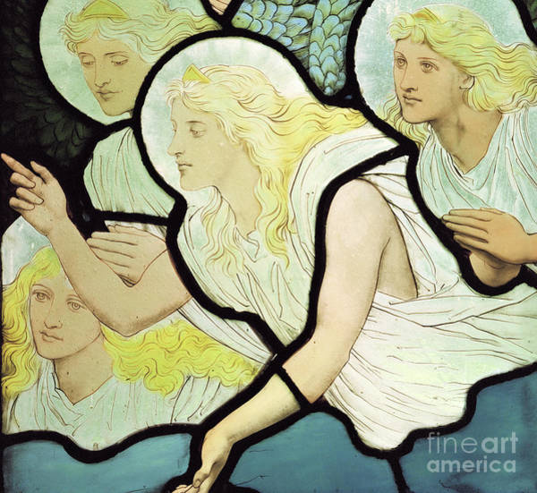 Wall Art - Glass Art - Angels by Henry Holiday