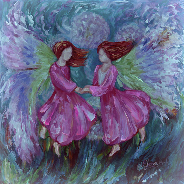 Digital Art - Angelic Dance - 2 by OLena Art - Lena Owens