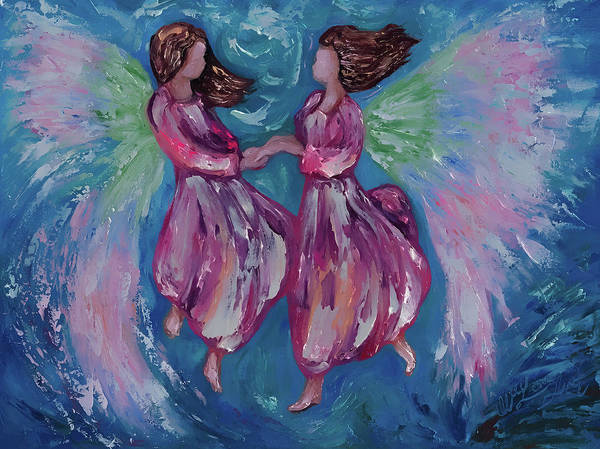 Digital Art - Angelic Dance  by OLena Art - Lena Owens