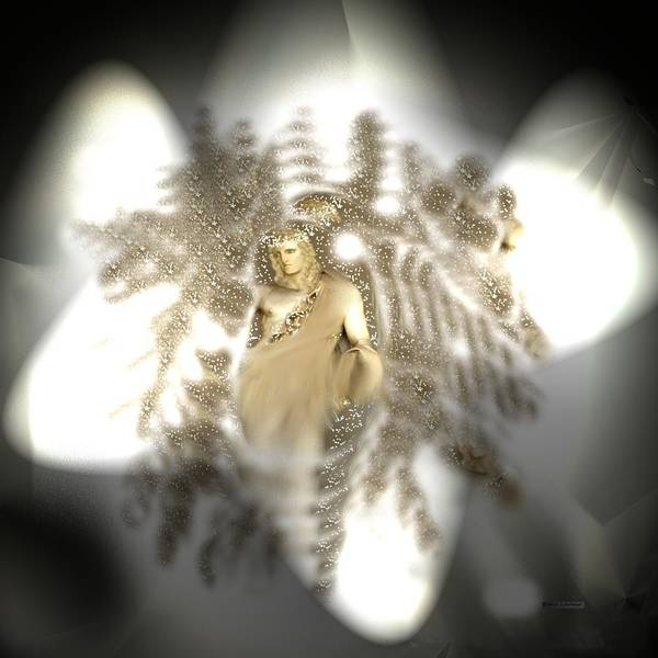 Holy Ghost Drawing - Angels With Us Always by Deborah