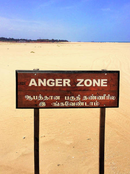 Wall Art - Photograph - Anger Zone by Dominic Piperata