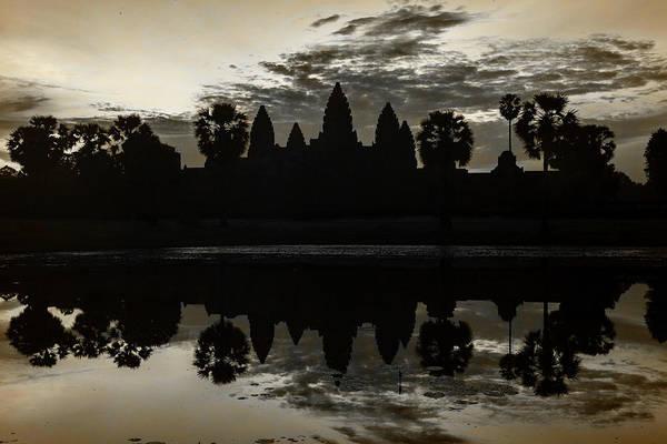 Wall Art - Photograph - Angkor Dawn - Sepia by Stephen Stookey