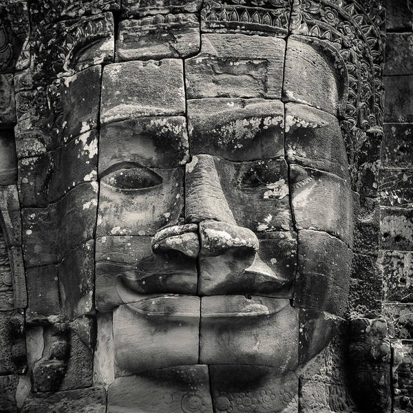 Angkor Wall Art - Photograph - Angkor Face by Dave Bowman