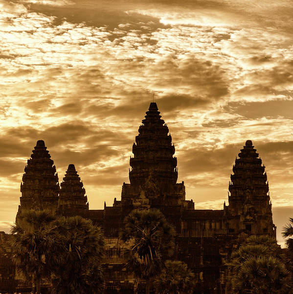 Wall Art - Photograph - Angkor Gold by Stephen Stookey