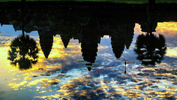 Angkor Wall Art - Photograph - Angkor Reflections by Stephen Stookey
