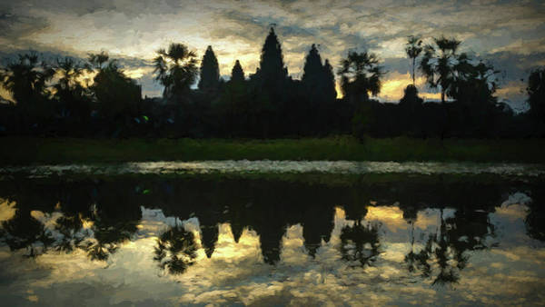 Wall Art - Photograph - Angkor Wat Dawn - Digital Oil by Stephen Stookey