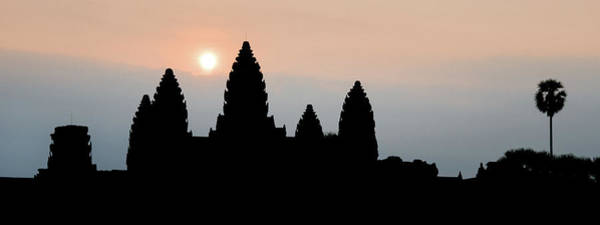 Angkor Wall Art - Photograph - Angkor Wat Sunrise by Dave Bowman
