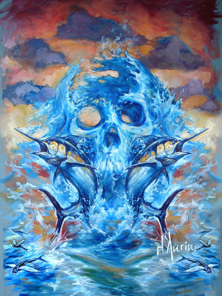 Angler Art Painting - Angler Heat II by Tom Dauria