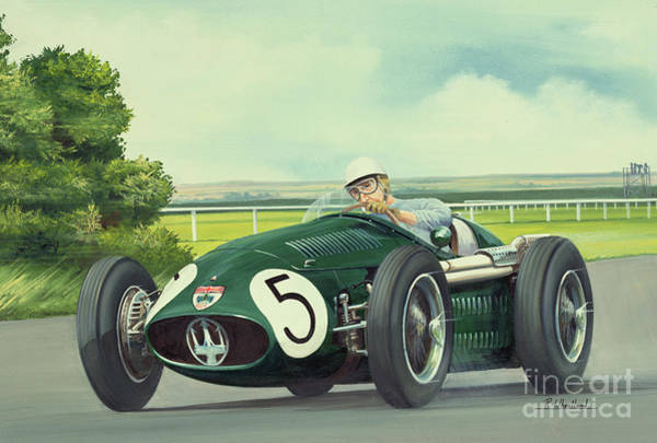 Racer Painting - Anglo-italian Combination by Richard Wheatland