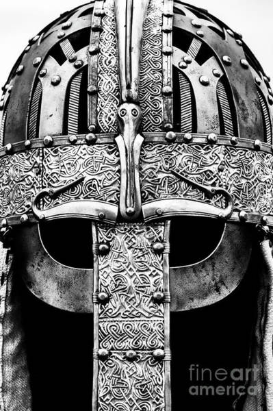 Wall Art - Photograph - Anglo Saxon Helmet Monochrome by Tim Gainey