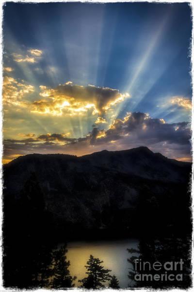 Fallen Leaf Lake Photograph - Angora Ridge Sunset by Mitch Shindelbower