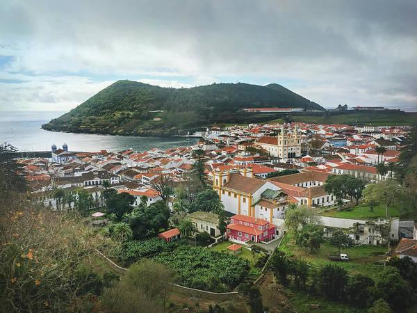 Photograph - Angra Do Heroismo And Monte Brasil, Terceira Island by Kelly Hazel