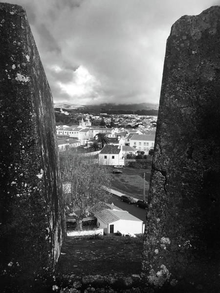 Photograph - Angra Do Heroismo From Monte Brasil In Black And White by Kelly Hazel