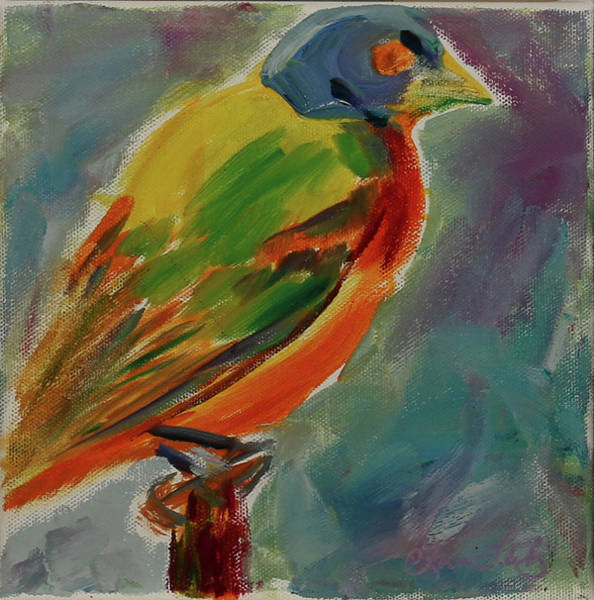 Wall Art - Painting - Angry Bird by Ann Lutz