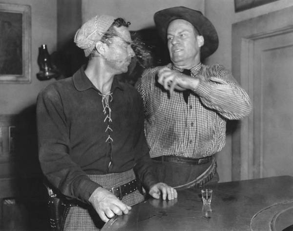 Photograph - Angry Cowboy In A Bar by Underwood Archives