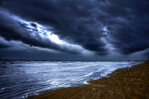Wall Art - Photograph - Angry Sky Peaceful Sea by Cecil Fuselier