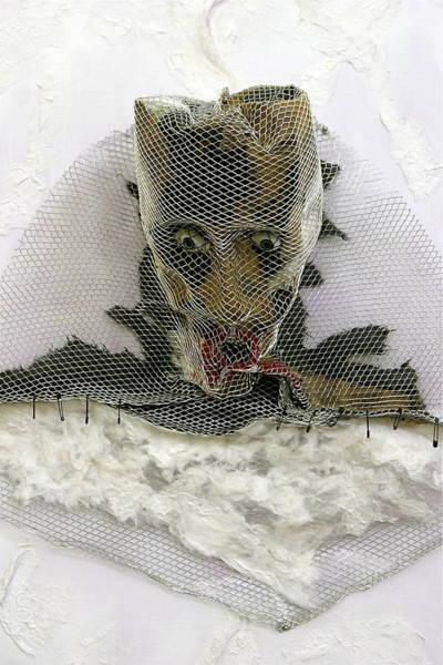 Anguish Mixed Media - Anguish   Detail   The Mask Series by Ruth Edward Anderson
