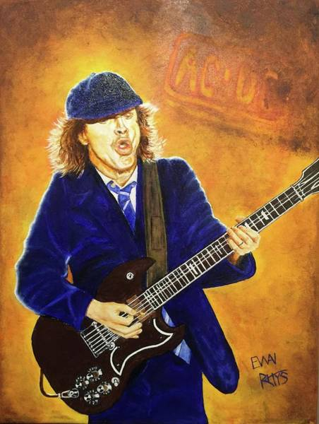 Acdc Painting - Angus Young by David Rhys