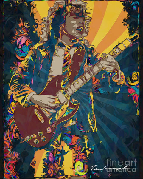 Digital Art - Angus Young by Tim Wemple