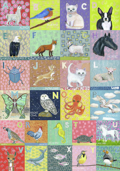 Wall Art - Painting - Animal Abc by Blenda Studio