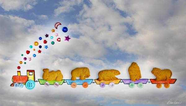 Mixed Media - Animal Cracker Train by Diana Haronis