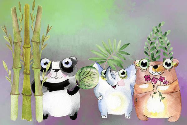 Digital Art - Animal Friends - Painting by Ericamaxine Price