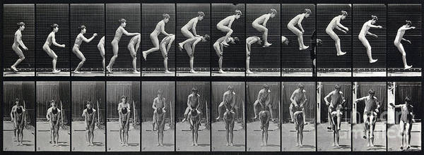 Photograph - Animal Locomotion Leap Frog 1887 by Science Source