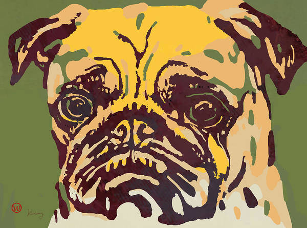 Furry Drawing - Animal Pop Art Etching Poster - Dog  18 by Kim Wang