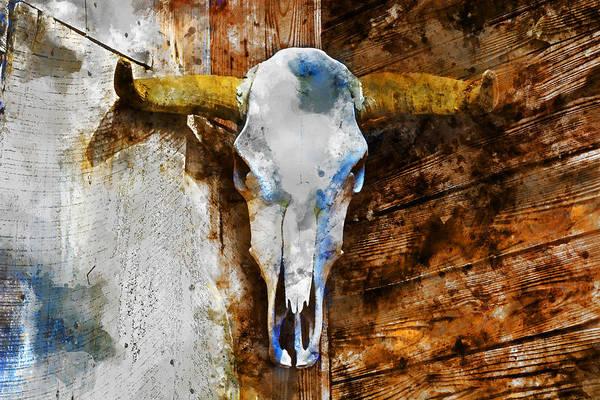 Wall Art - Mixed Media - Animal Skull 2 by Kevin O'Hare