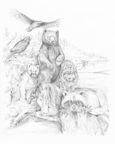 Animal Wisdom Art Print