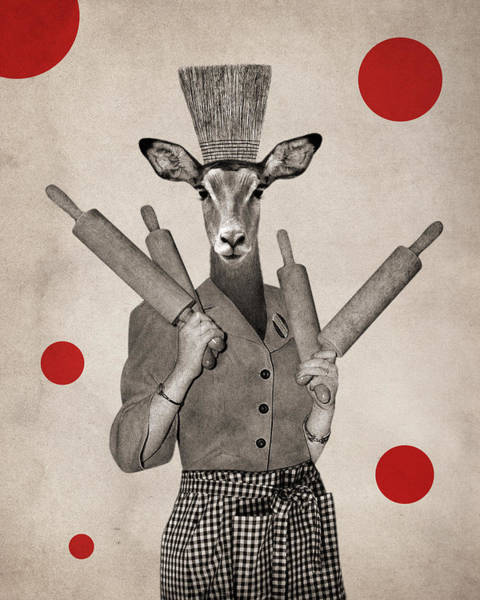 Doe Photograph - Animal13 by Francois Brumas