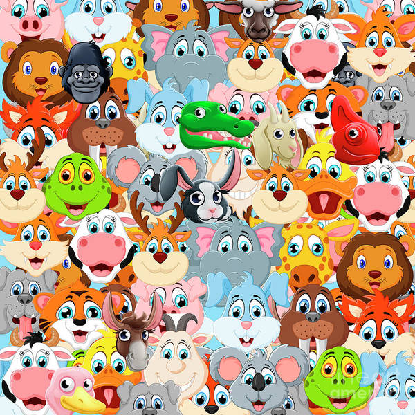 Wall Art - Digital Art - Animals Zoo by Mark Ashkenazi