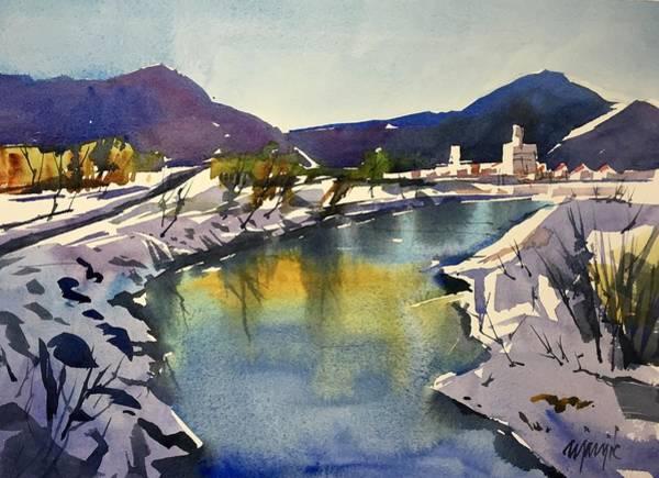 Animas River At Durango Colorado Art Print