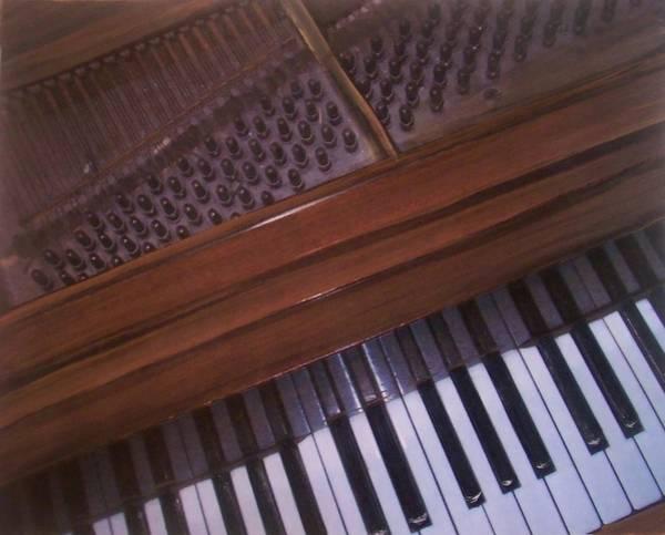 Mixed Media - Anita's Piano 1 by Anita Burgermeister