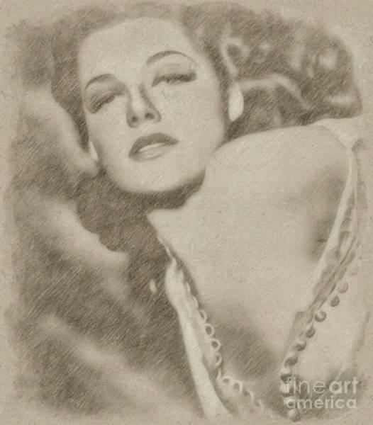 Wizard Drawing - Ann Sheridan Hollywood Actress by Frank Falcon
