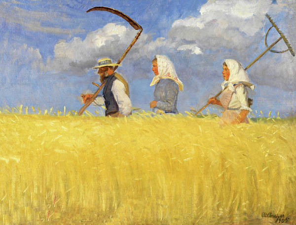 Painting - Anna Ancher Harvesters 1905 by Movie Poster Prints