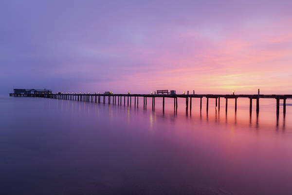 Photograph - Anna Maria City Pier , Anna Maria Island Sunrise  by Paul Schultz