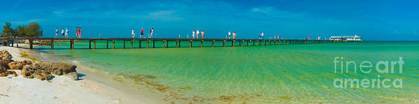 Anna Maria Island Historic City Pier Panorama Art Print