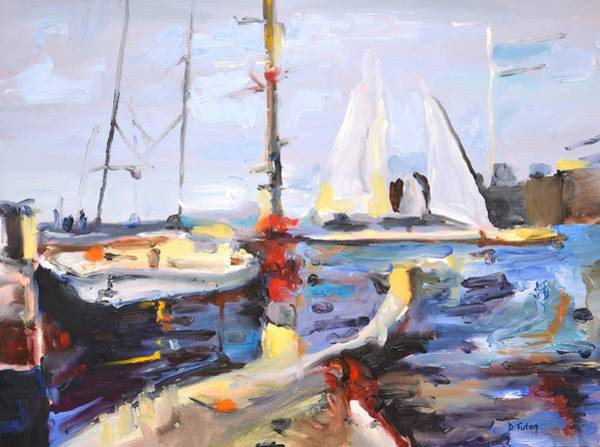 Painting - Annapolis Harbor Maryland by Donna Tuten