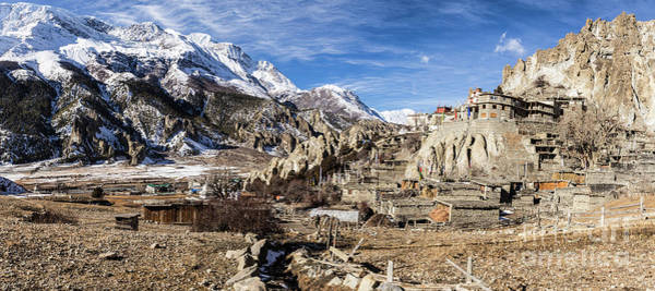 Photograph - Annapurna And Brega Buddhist Monastery In Nepal by Didier Marti