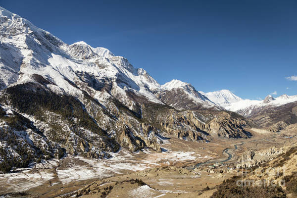 Photograph - Annapurna Range Along The Circuit Trek In The Himalayas In Nepal by Didier Marti