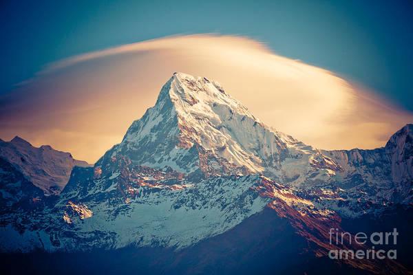 Photograph - Annapurna Sunrise Himalayas Mountains by Raimond Klavins