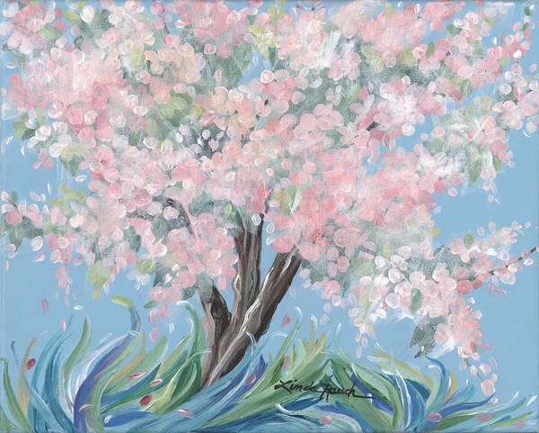 Painting - Anna's Crabapple Tree by Linda Rauch